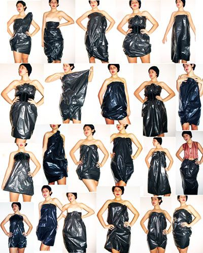 7500104f660 All you need is a plastic trash bag, some pins, a belt and ...