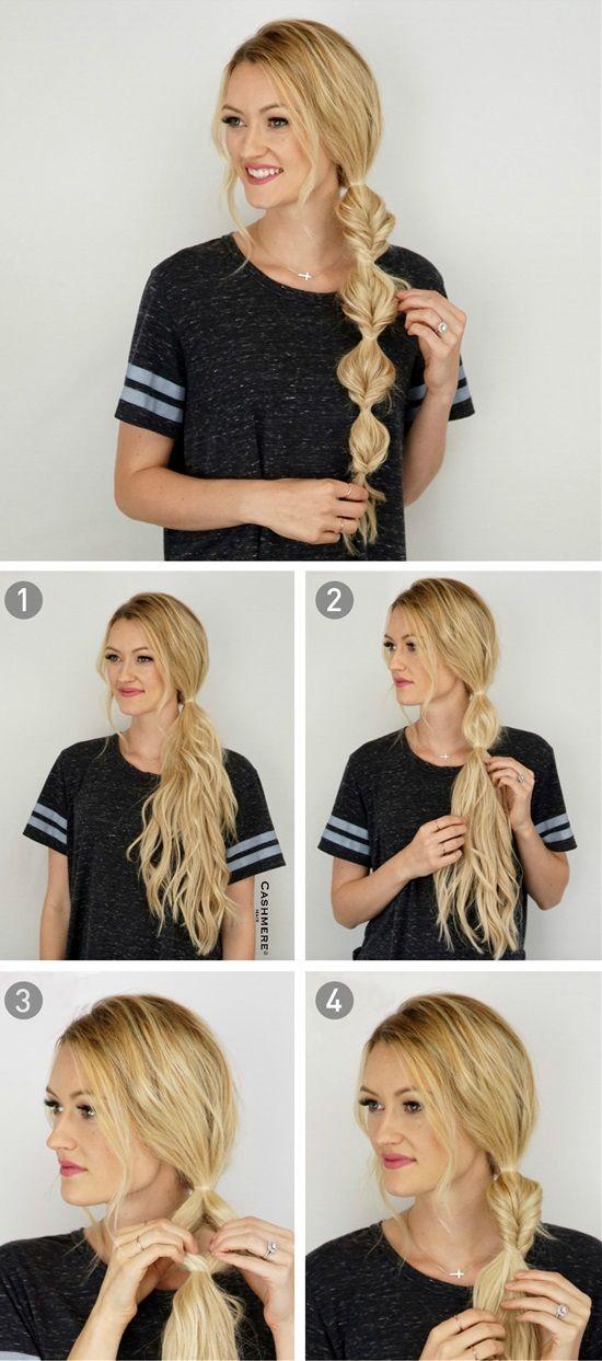 Side Bubble Braid Easy Hairstyles Long Hair Styles Hair Styles