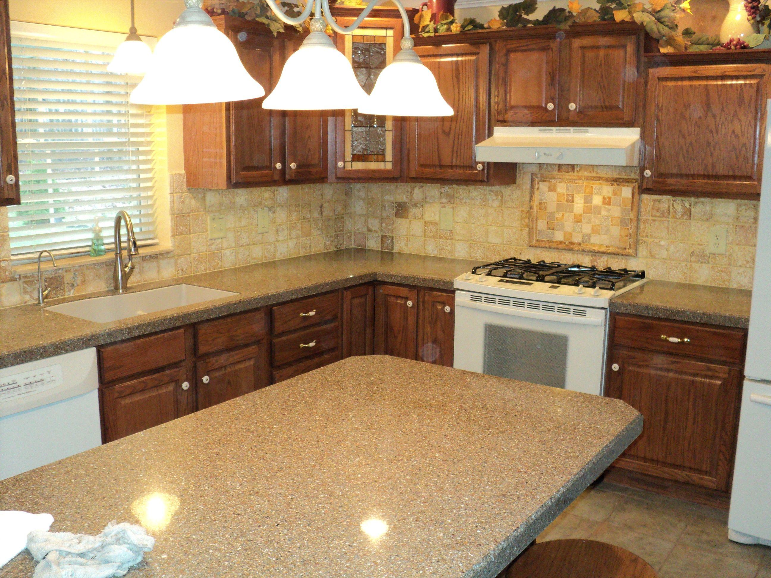 Custom built kitchen island granite counter top pendant lighting