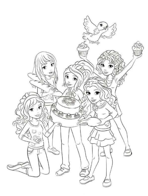Lego friends coloring pages for girls | Lego Friends Party ...