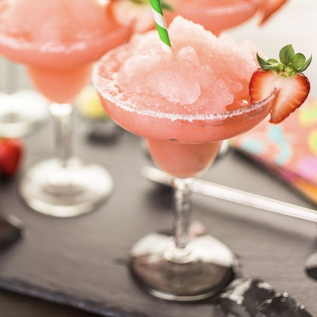 Strawberry Key Lime Margarita #limemargarita
