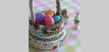 Fabric Rope Easter Basket | eHow