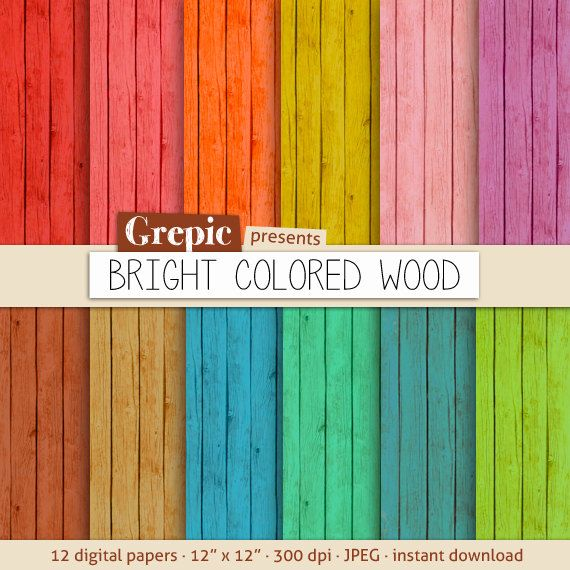 Wood Digital Paper Bright Colored Wood With Rustic By Grepic 4 95 Green Wood Stain Digital Paper Staining Wood