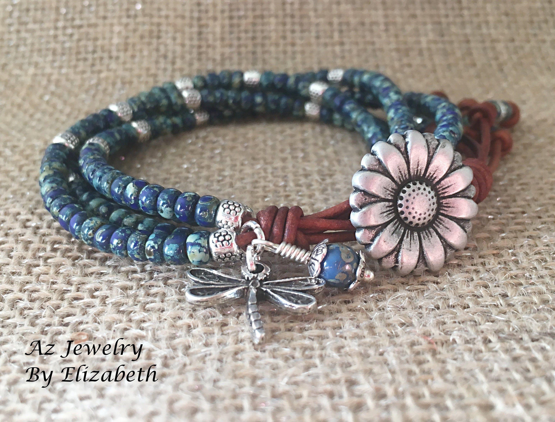 Argent Sterling 925 Violet champ de fleurs Bead Fit European Charm Bracelet