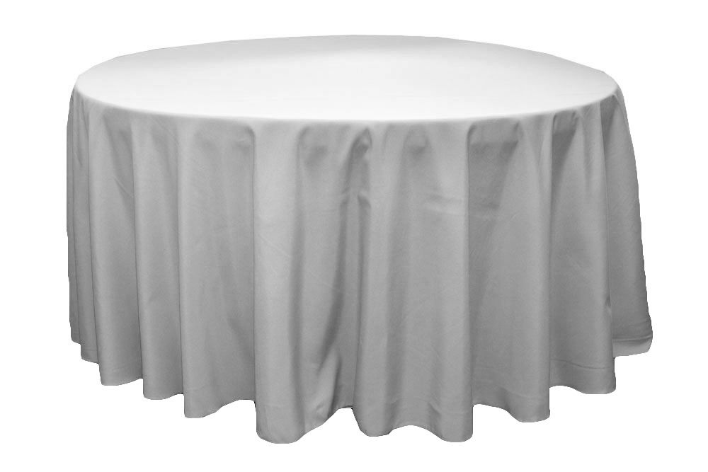 Round Polyester 132 Tablecloth Gray Silver 120 Round Tablecloth Round Tablecloth Table Cloth