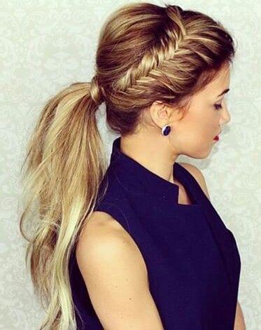 Coiffure hair tresses queue de cheval ponytail hair pinterest tresse queue de cheval - Tresse queue de cheval ...