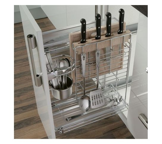Pull Out Storage Rack For Kitchens Base Mount In 300mm Units Super Storage Chop Board Kitchen Utensils Design Clever Kitchen Storage Kitchen Cabinet Design