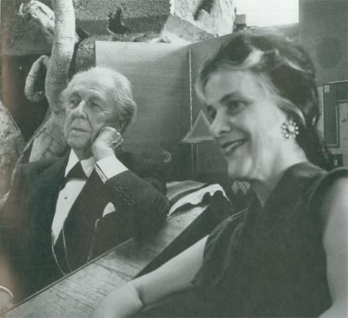 Famous American Architects famous american architect frank lloyd wright and olgivanna lloyd
