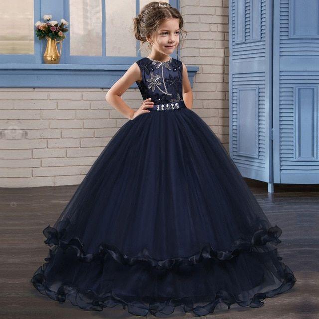 6475f36bceb Kids  Fancy Girl Flower Petals  Dress Children Bridesmaid Outfits  Elegant  Dress for