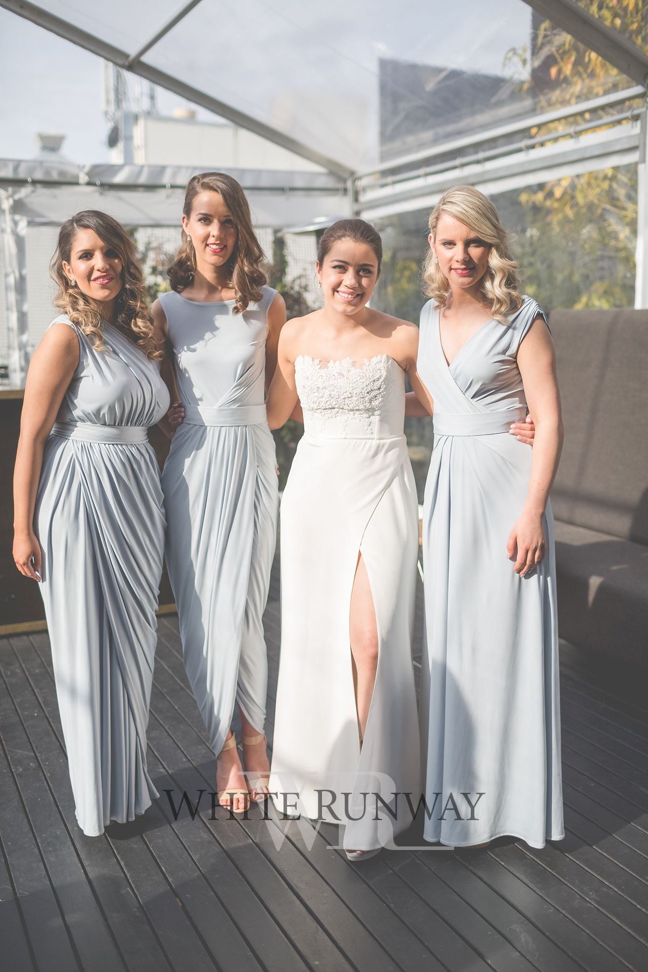 Jm351 watermarked juju bees pinterest bridal dresses our gorgeous bride megan chose three different pia gladys perey styles for her bridesmaids the girls looked stunning in the ingrid haily bessy dresses ombrellifo Gallery