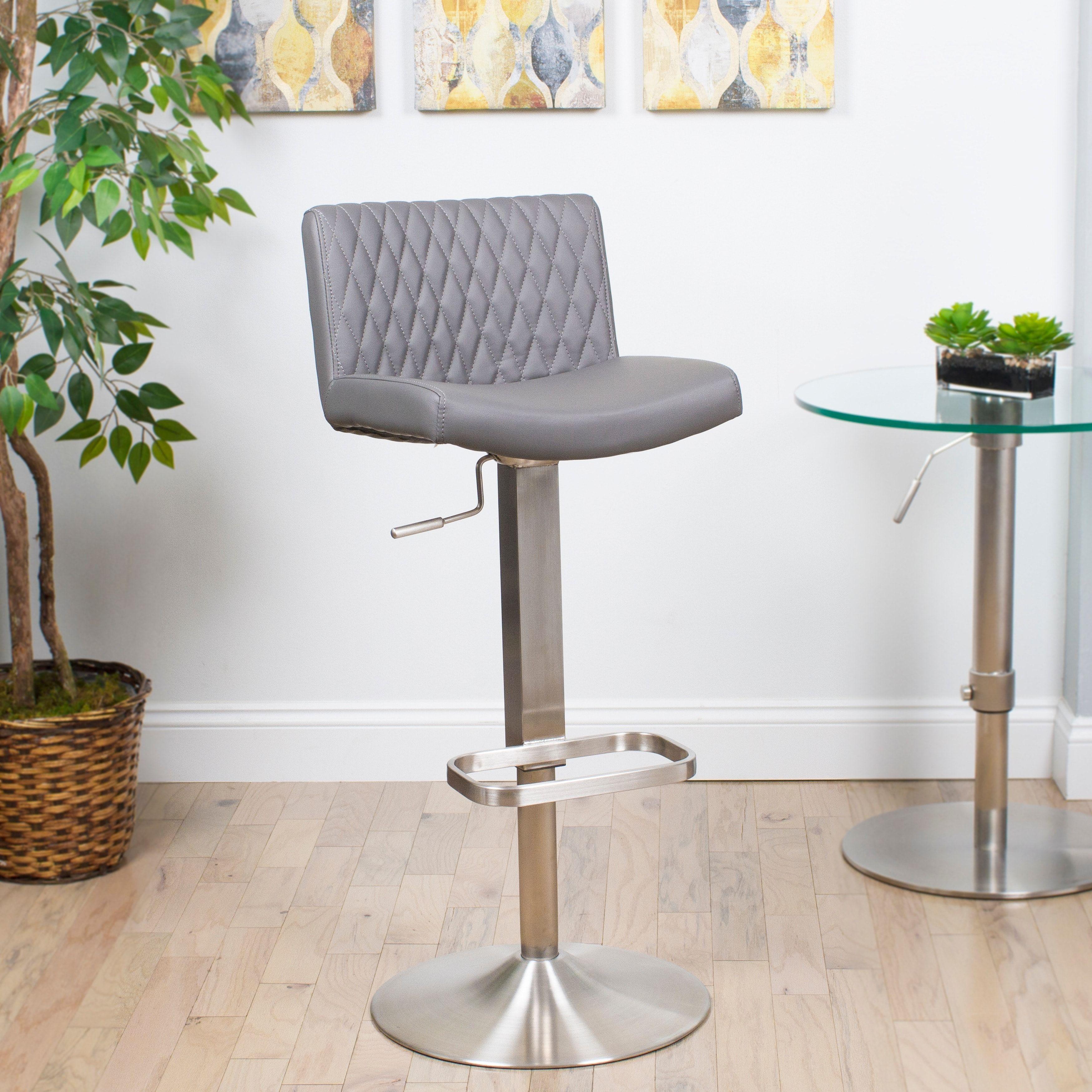 Fabulous Matrix Diamond Patterned Back Brushed Stainless Steel Ibusinesslaw Wood Chair Design Ideas Ibusinesslaworg
