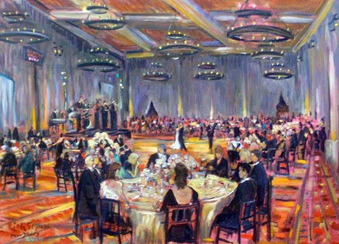 New Years eve wedding painting - by Rich Flynn