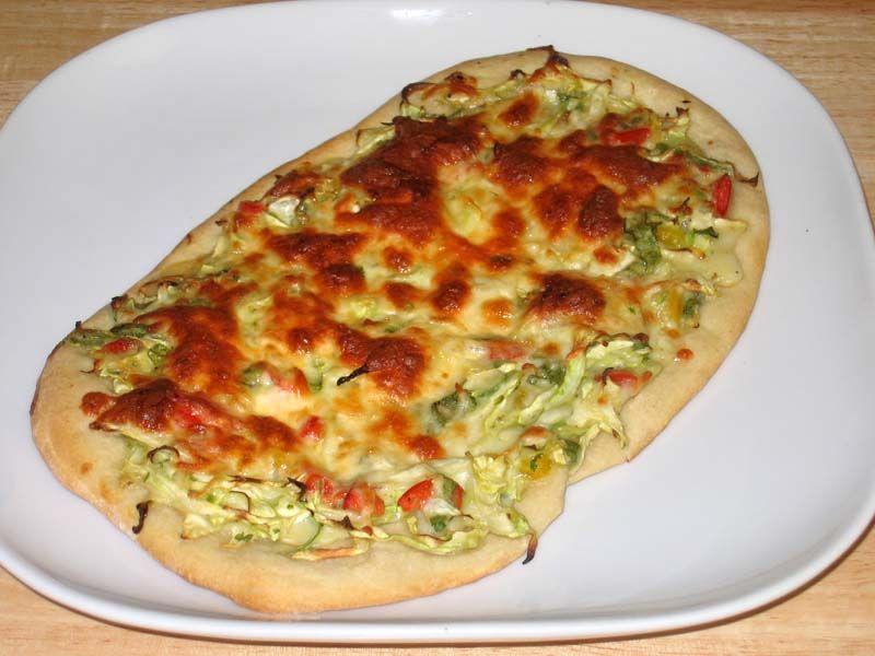 Cabbage Pizza Recipe by Manjula #Cabbage #Pizza #Recipe #Indian #Vegetarian