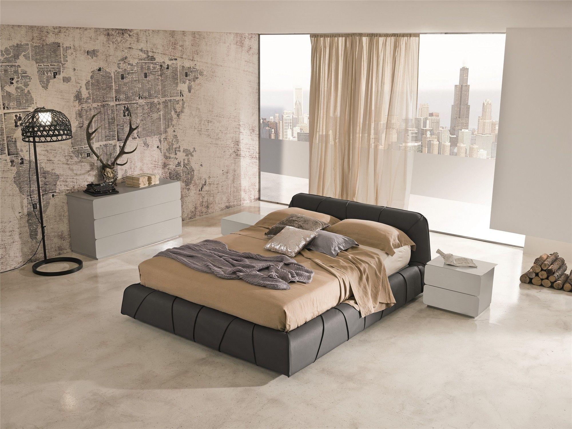 Veneran Italia SFREE Real Leather Modern Bed | Italian Designer Beds ...