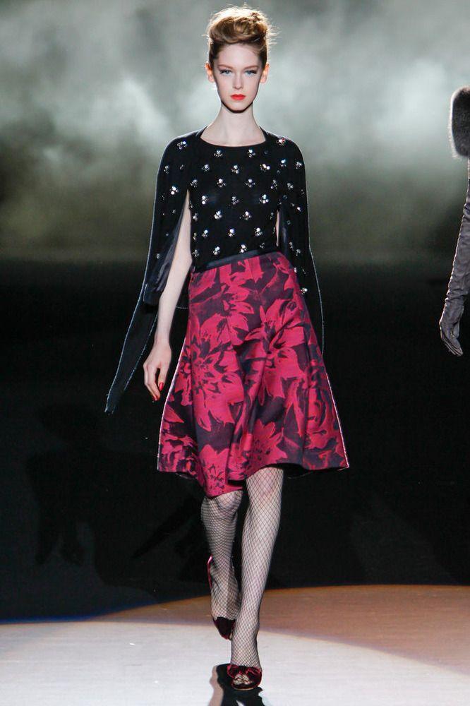 Fashion-with-Style.com | Badgley Mischka Fall/Winter 2013/14 #badgleymischka #fall #fashion #catwalk #fashionweek #model
