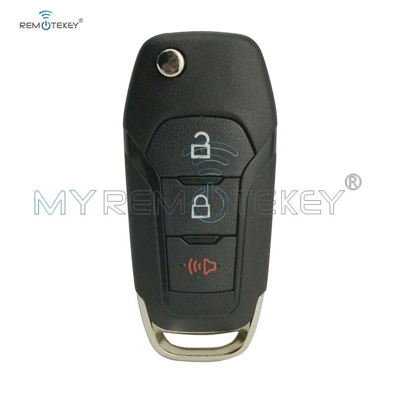 Smart Key Cover For Ford Fusion N5f A08taa Flip Key Shell 3 Button