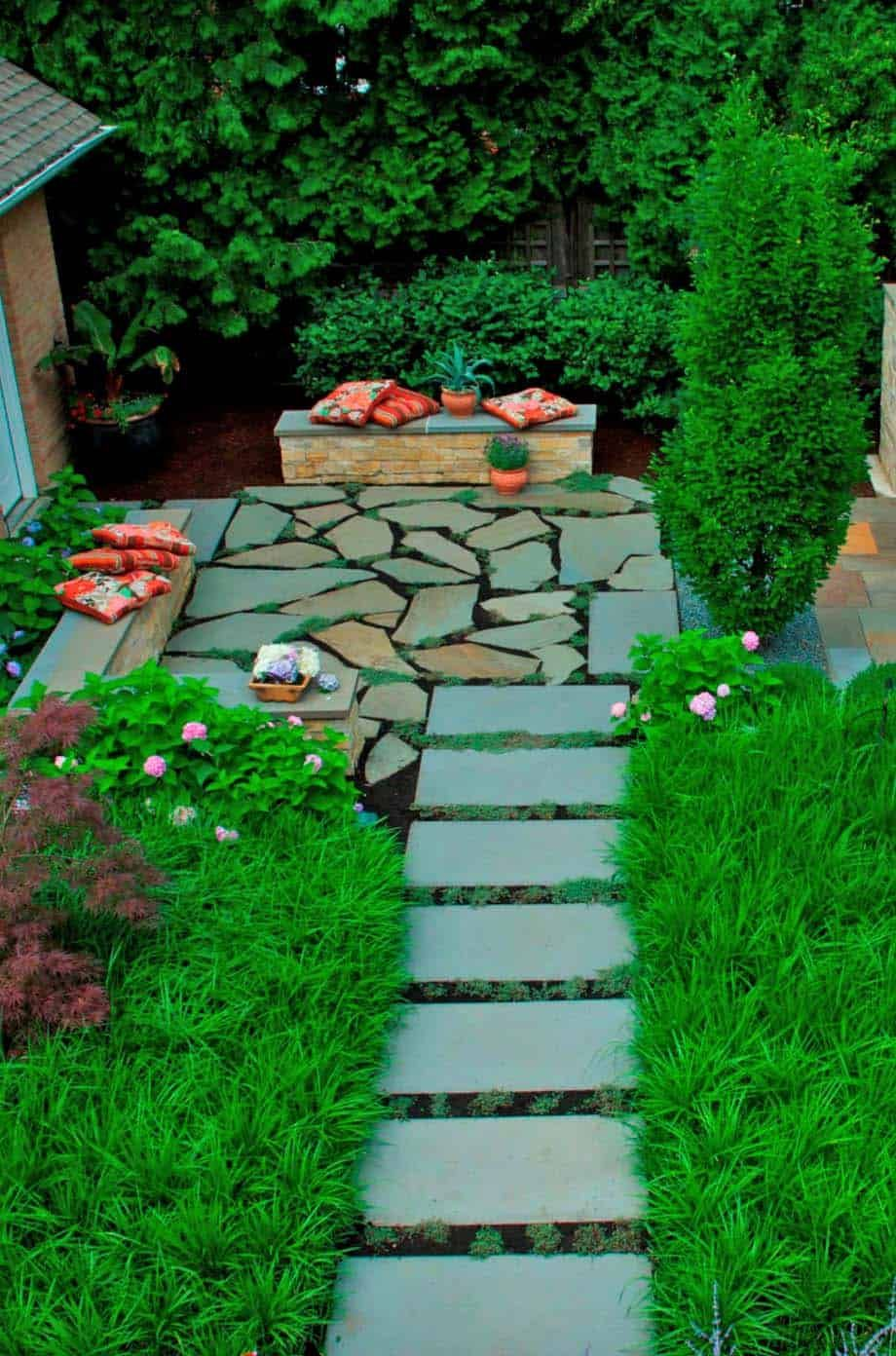 50 Very Creative And Inspiring Garden Stone Pathway Ideas Modern Garden Landscape Design Modern Landscaping