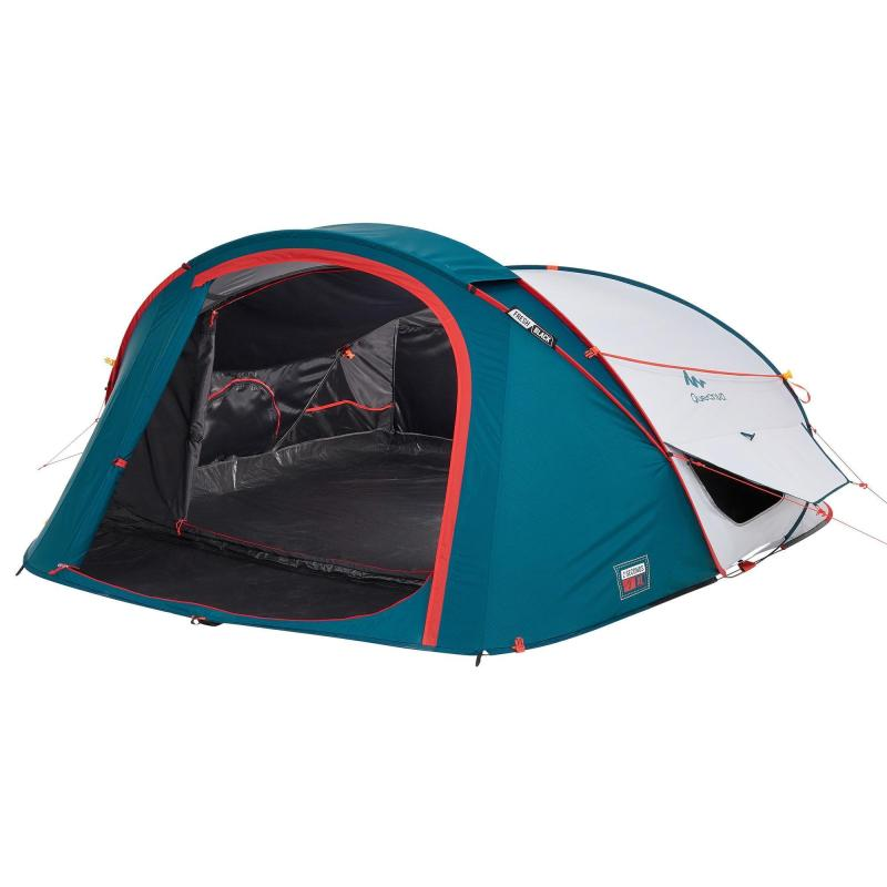 Tente De Camping 2 Seconds Fresh Black Xl 3 Personnes Pop Up Tente Camping En Tente Camping