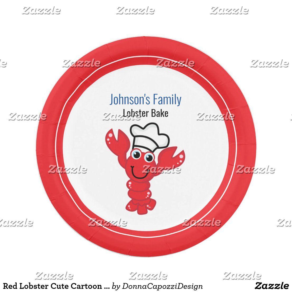 Red Lobster Cute Cartoon Chef Hat ...