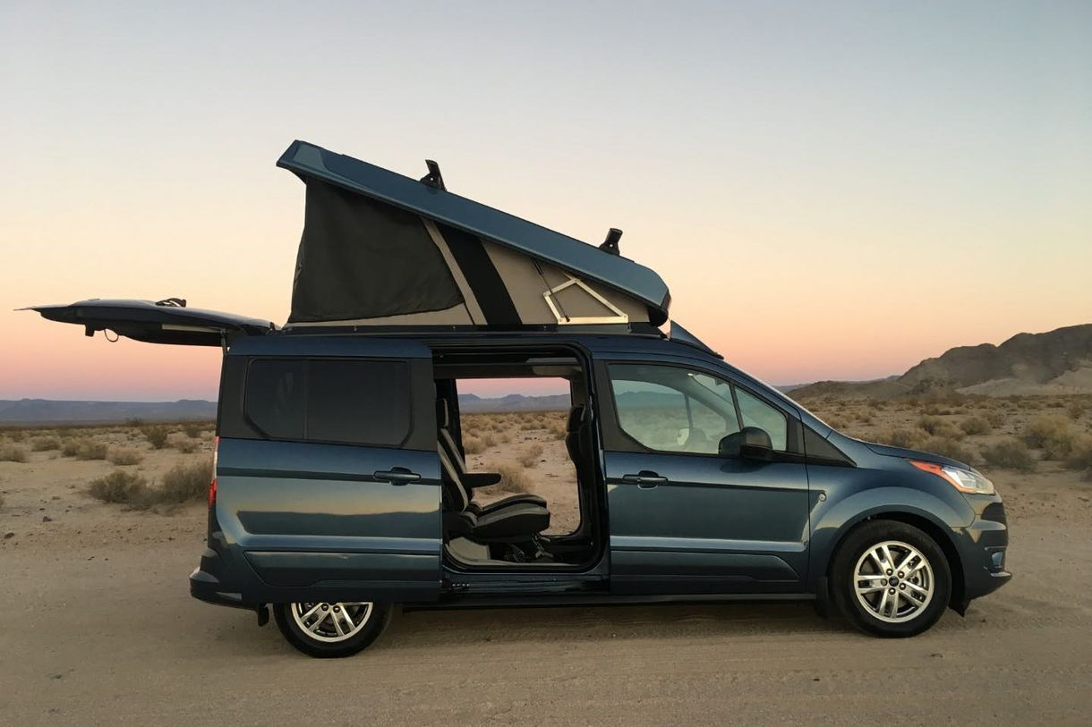 Affordable Pop Top Transforms Your Van Into A Camper For 7k Ford Transit Ford Transit Connect Camper Transit Connect Camper