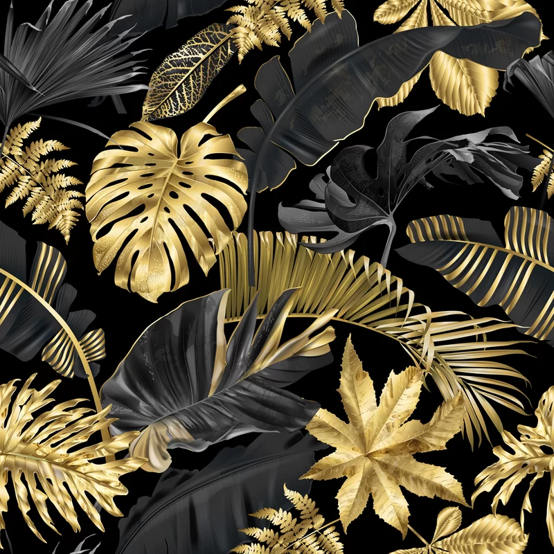 Jacky And Tropical Leaves 10 L X 24 W Peel And Stick Wallpaper Roll Tropical Leaves Leaf Wallpaper Wallpaper Roll