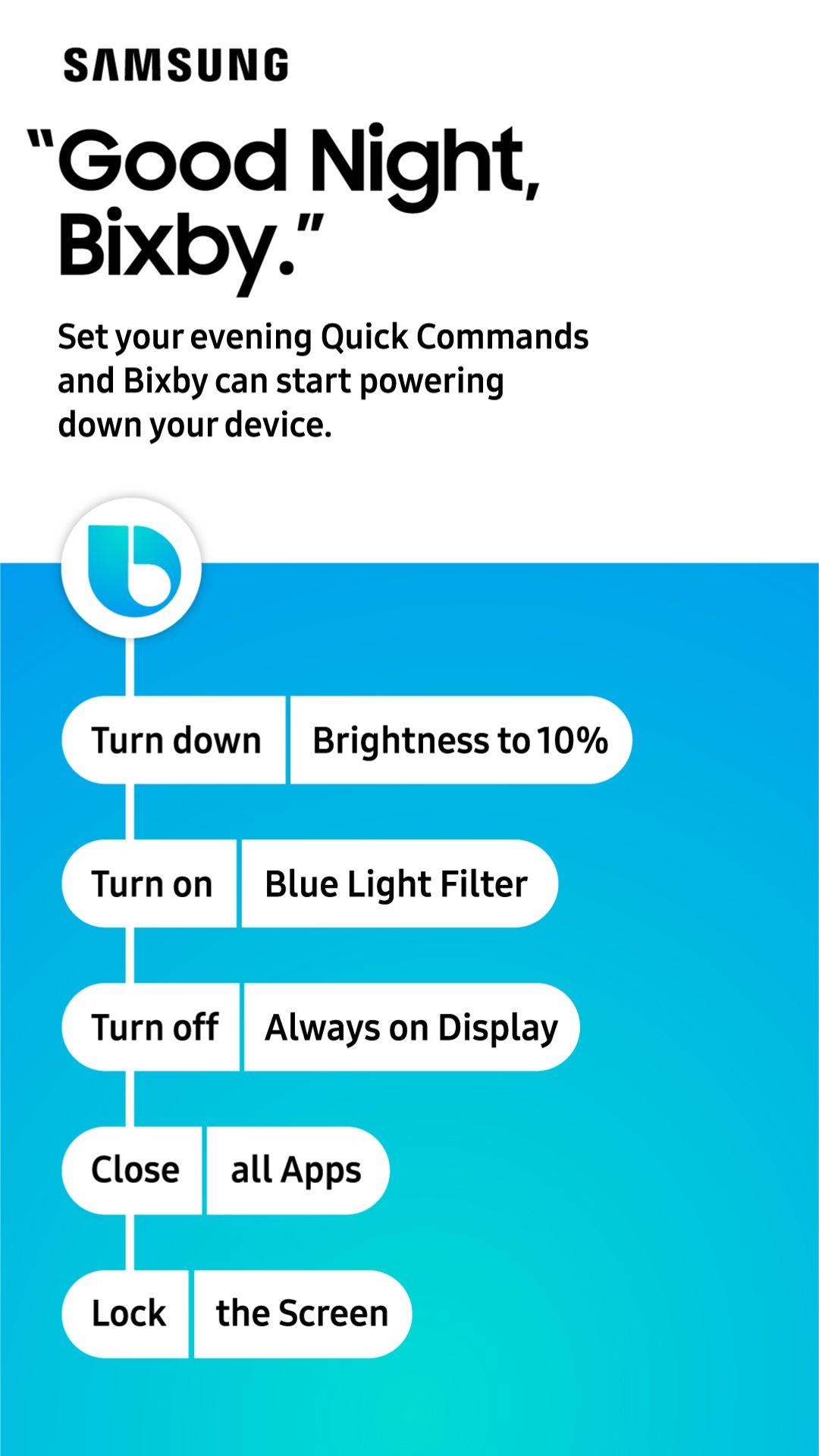 Pjs Brush Teeth Good Night Bixby Your Samsung Mobile Device
