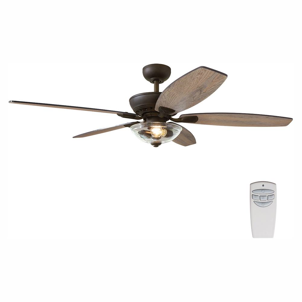 Home Decorators Collection Connor 54 In Led Bronze Dual Mount Ceiling Fan With Light Kit And Remote Control 51848 Ceiling Fan With Light Fan Light Bronze Ceiling Fan