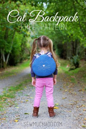 The most ADORABLE Cat Backpack FREE Pattern - must sew!