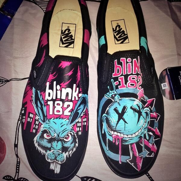 blink-182 on | Diy shoes, Shoes, Vans style