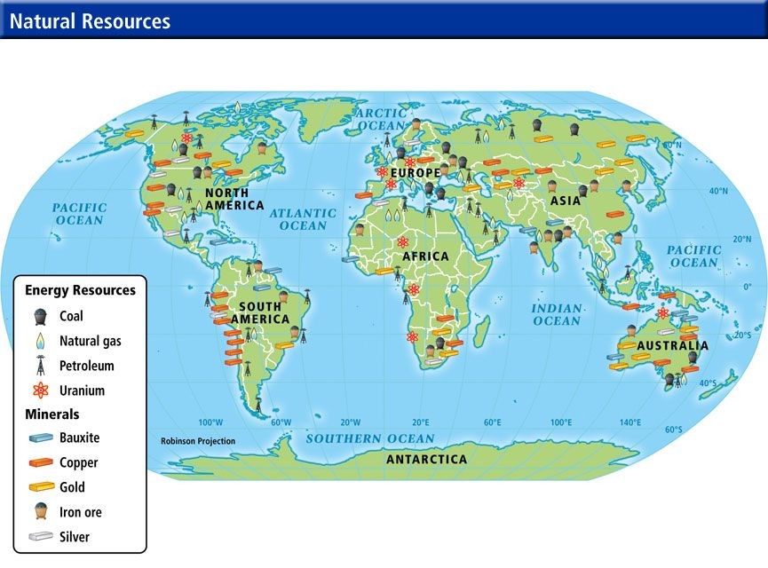 Show A Map Of The World.Natural Resources World Map Etlobest Eltobestimages Resource 6