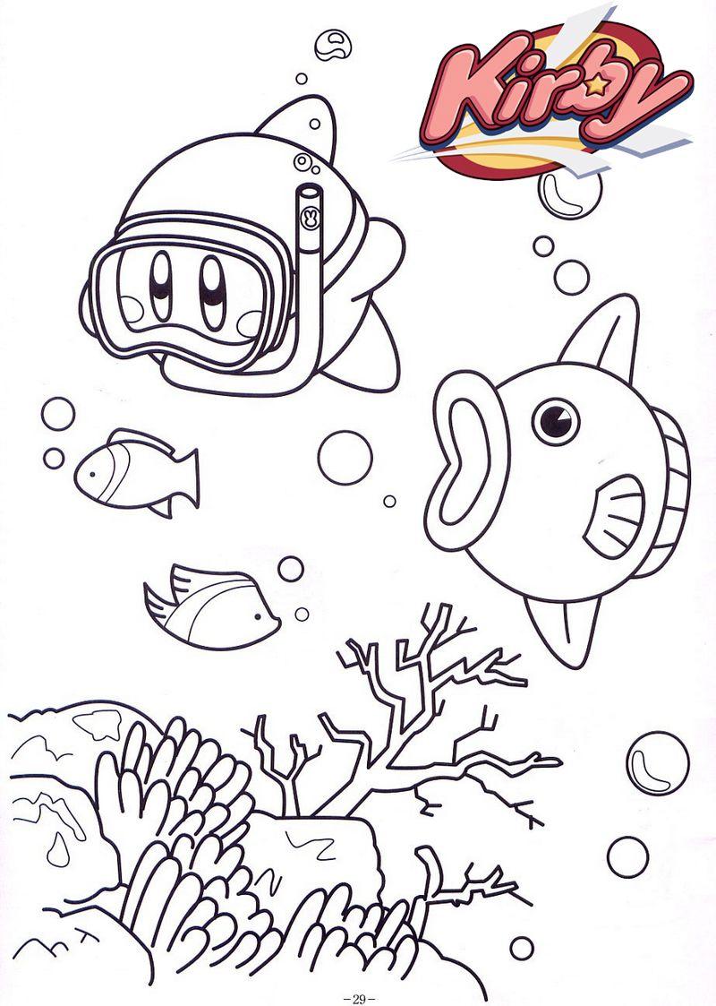 Kirby Undersea Coloring Page Dinosaur Coloring Pages Coloring Pages Dinosaur Coloring