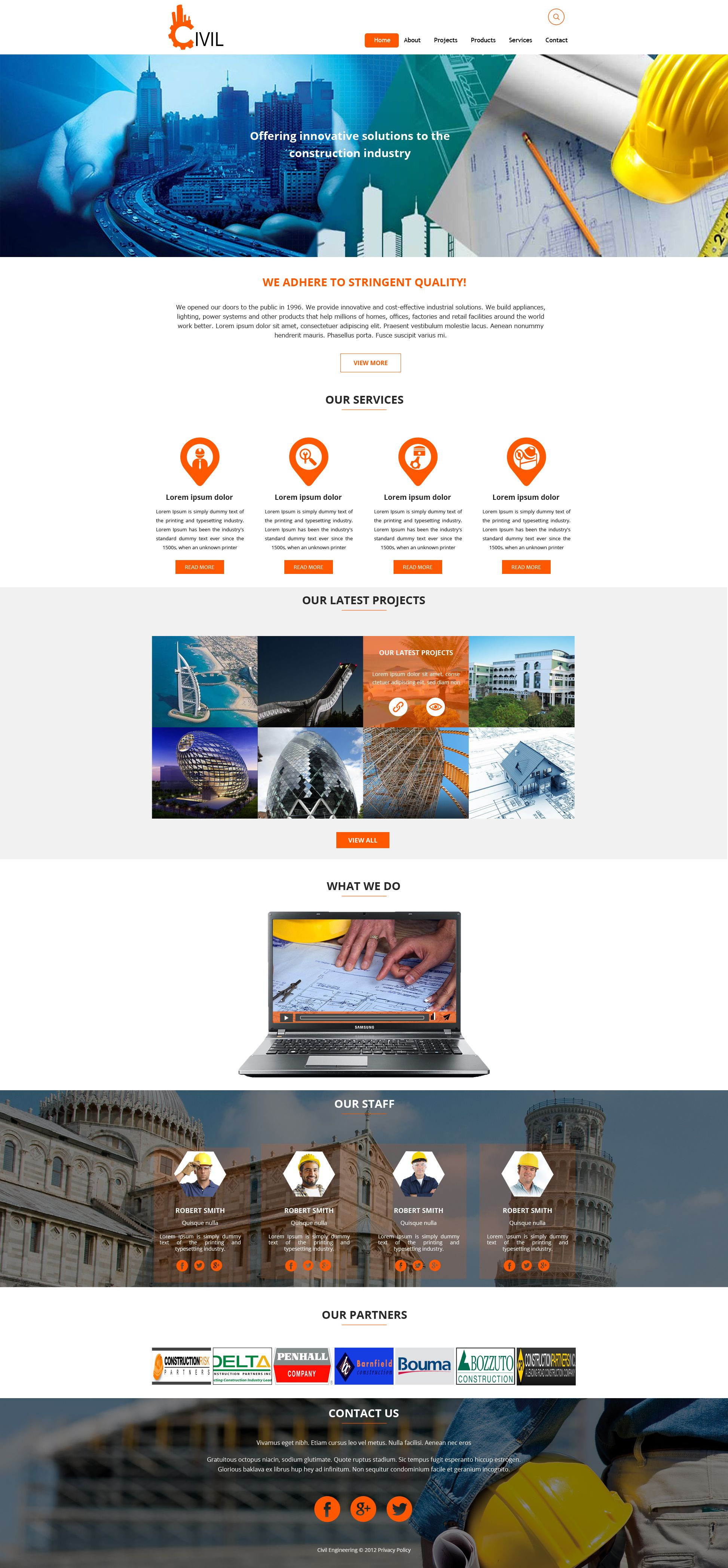 Sell365's Civil Template. One of the best Website Builder in India. Design and customize your own website with our free website templates.