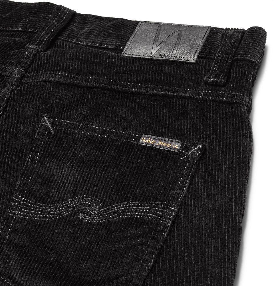 Nudie Jeans Mens Grim Tim Black Cord
