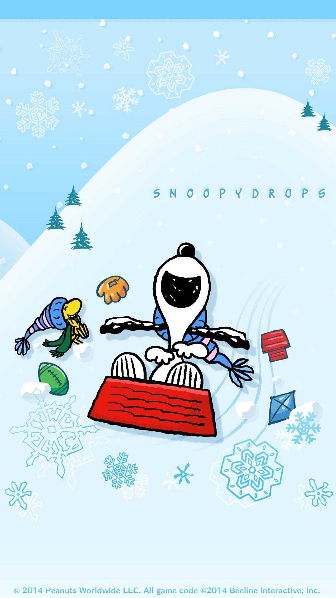 Snoopy スヌーピー 雪そり スヌーピーの壁紙 スヌーピー