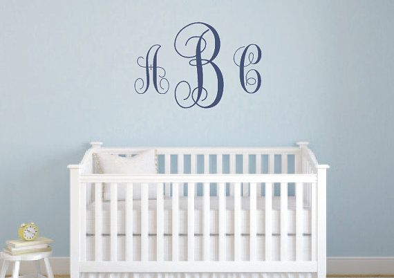 Monogrammed Initials  Personalized Vinyl Wall by LCvinyldesigns, $21.00