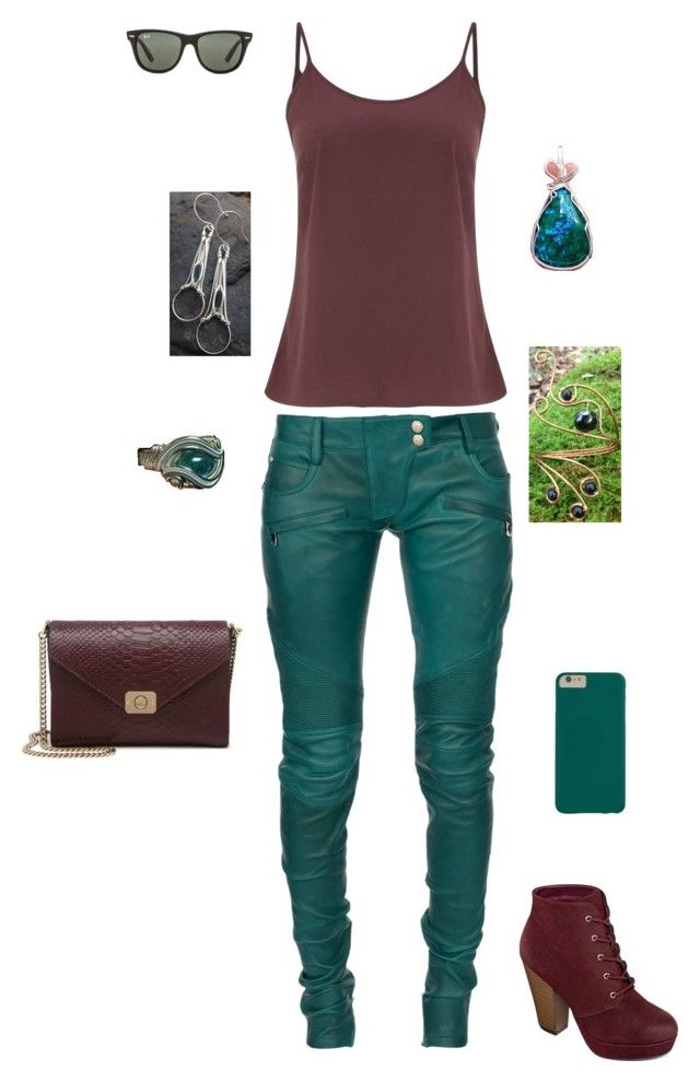 Teal by aundradouglas on Polyvore featuring Vero Moda, Balmain, Mulberry and Ray-Ban