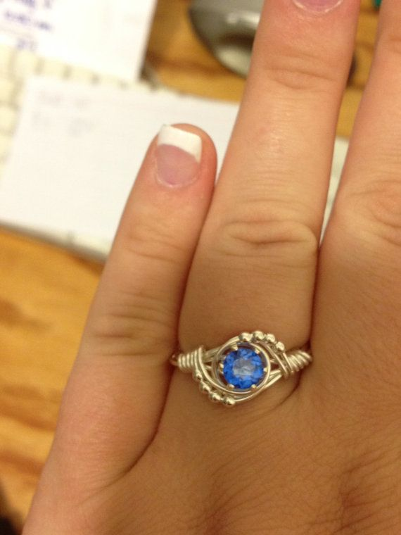 MY JEWELRY IS FINALLY ON ETSY!!! Genuine Blue Topaz Wire Wrapped Ring by LitJewelry on Etsy