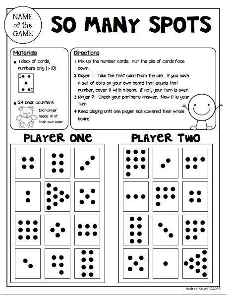 Math Games For Kindergarten Low Prep Reusable Games For Partners Kindergarten Math Games Math Math School