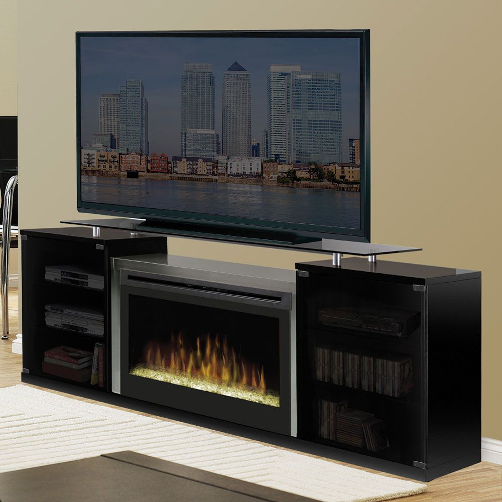 Dimplex Marana Black Electric Fireplace Media Console Sgfp 500 B  # Meuble Tele Foyer Electrique