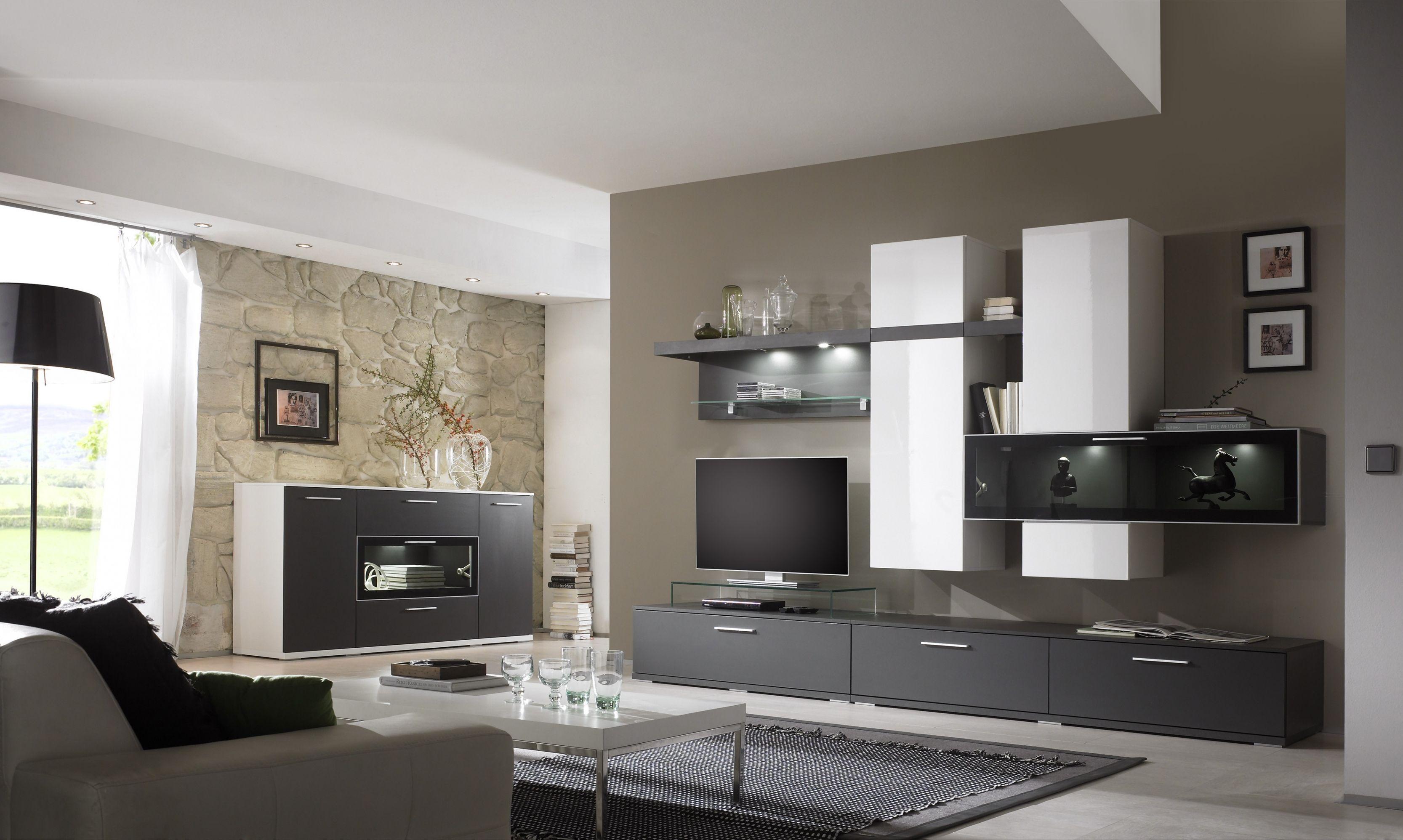 Wohnzimmer Ideen Grau Braun - homeautodesign.com -