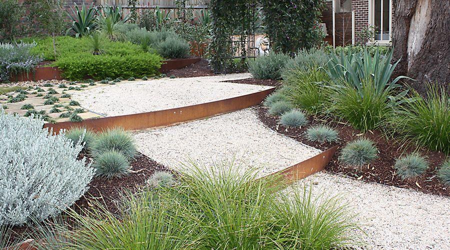 Gardensonline Flexible Garden Edging Cor Ten Steel Everedge Corten Rusted Clic