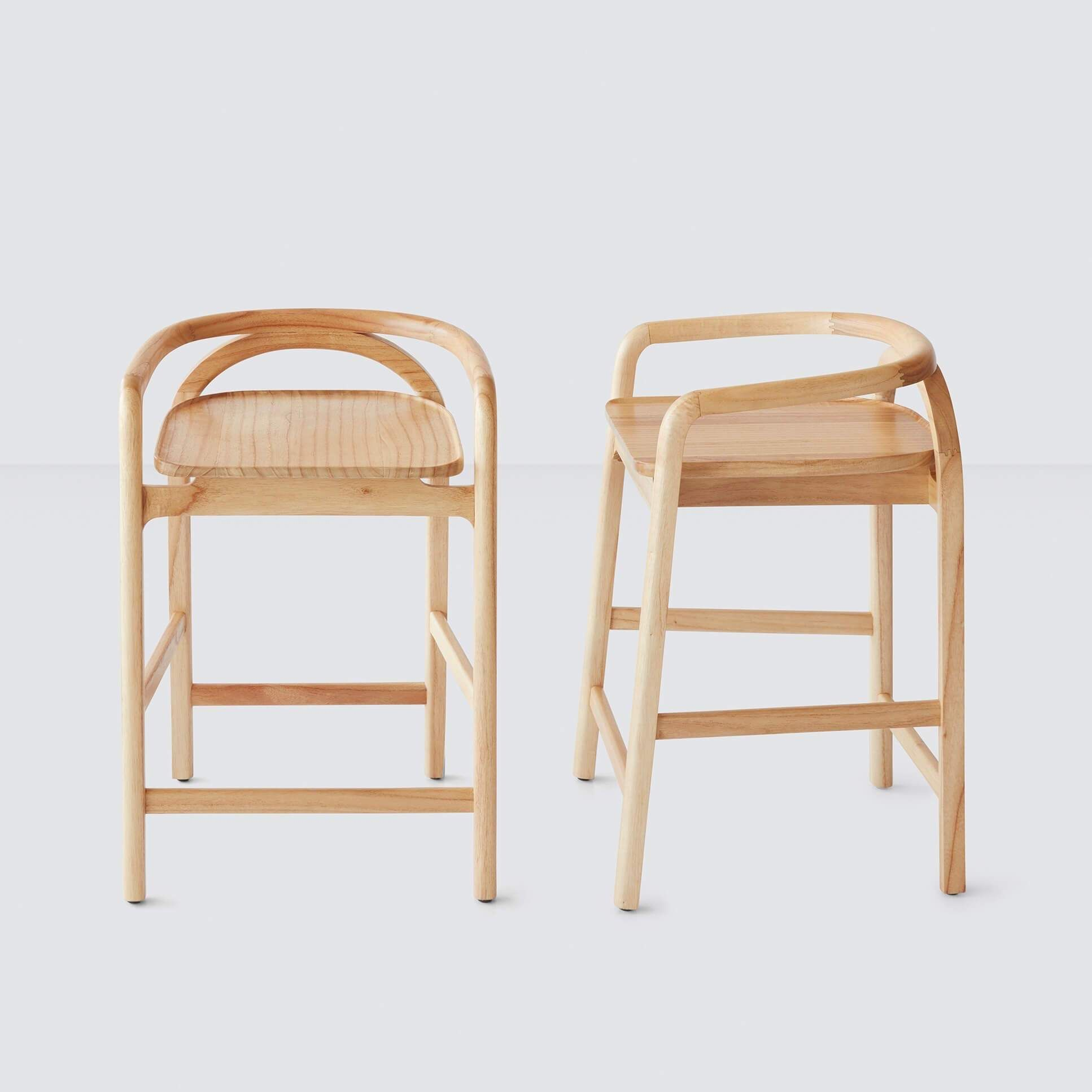 Light Wood Counter Stool   Free Shipping – The Citizenry   Wood ...