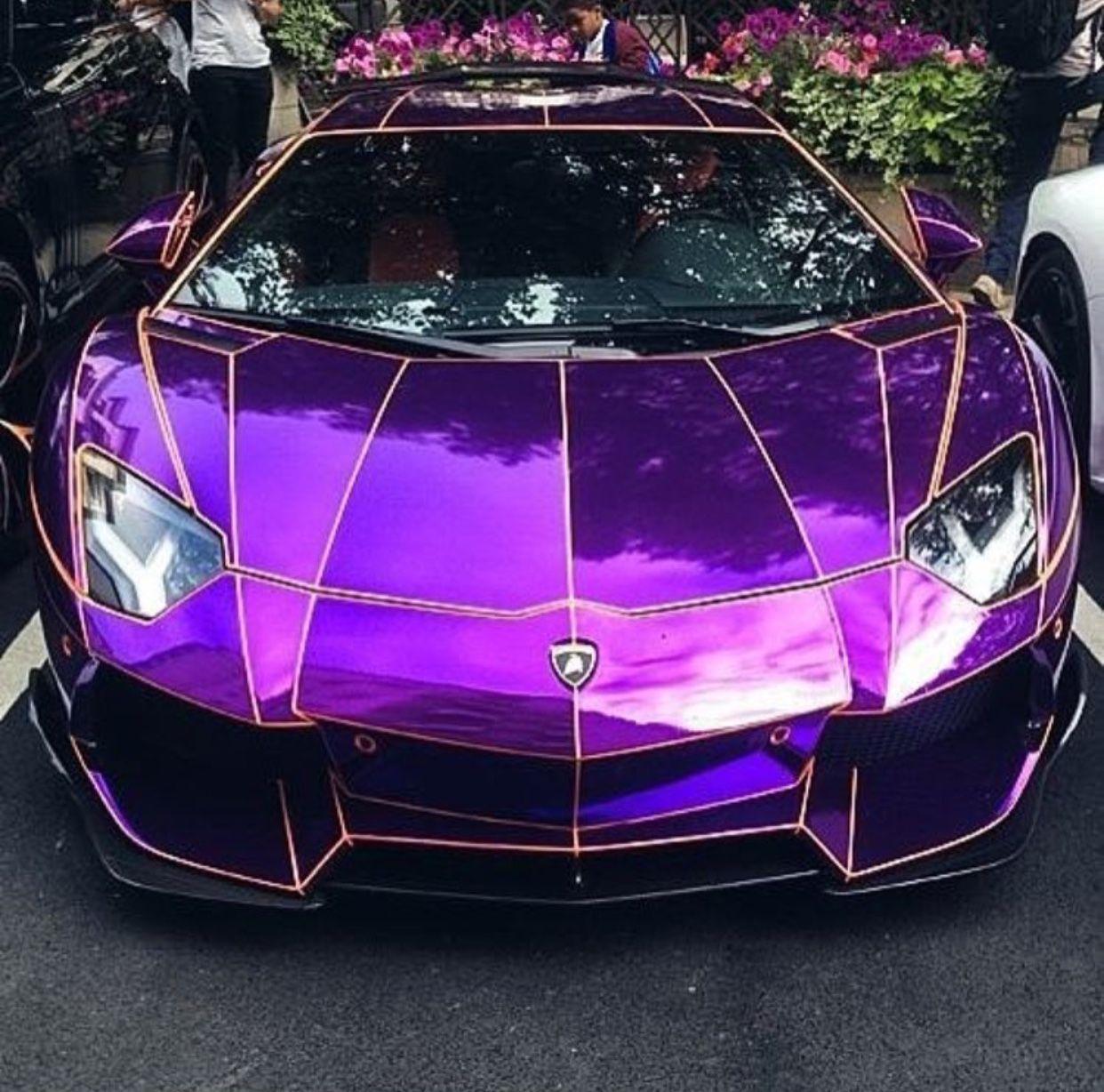 Purple Lamborghini Aventador 2018 Lamborghini Lamborghini