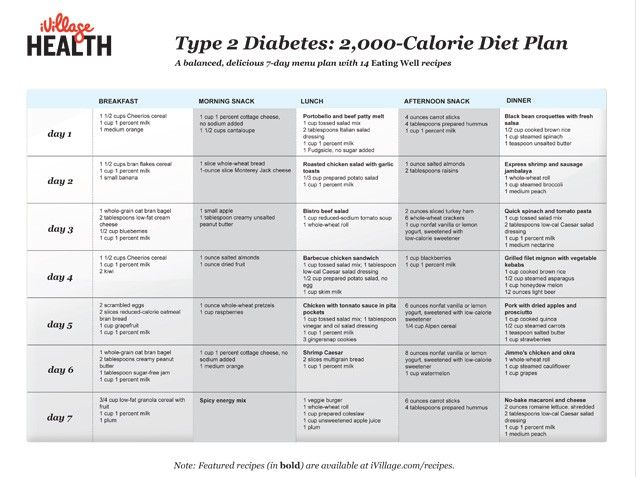 diet plan for diabetes mellitus