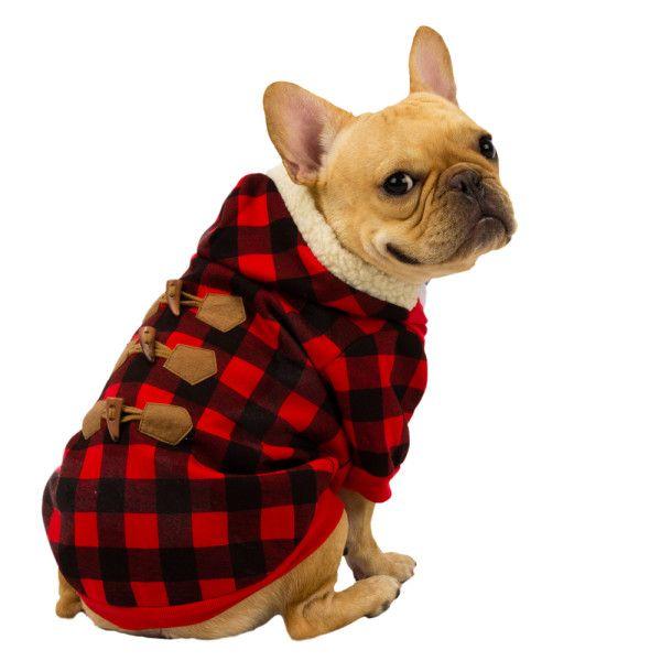 Petsmart Com Dog Sale Top Paw Plaid Hoodie Dog Sweaters Dog Coats Dog Plaid