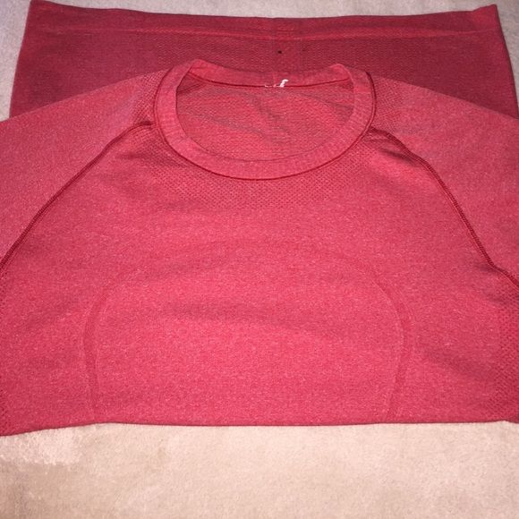 Lululemon swiftly top Great Lululemon swiftly top. Lightly used but in great condition. Small black dot on the back very bottom, seen in pic 1. lululemon athletica Tops
