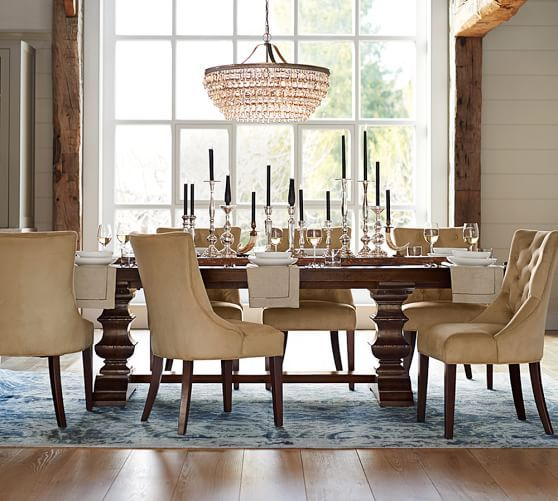 Clarissa Glass Drop Round Chandelier  Pottery Barn I Love The Cool Dining Room Pottery Barn Design Decoration