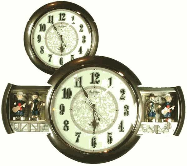 Rhythm Goes Country With The New Country Jamboree Rhythm Small World Clock When It Goes Off On The Hour It Opens Up On Bo World Clock Country Musicians Clock