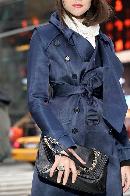 blue trench.. yes please