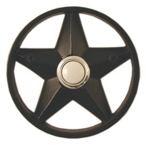 Waterwood Hardware Decorative Texas Lone Star Doorbell  Black From Cabinet  Knobs And More